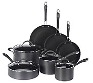 As Is CooksEssentials Hard Anodized 11-Piece Cookware Set - K307255
