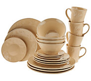 As Is Rachael Ray Garden Sage 20-Piece Service for 4 Dinnerware Set - K307455