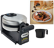 Waring Stainless Steel Belgian Waffle Maker with Recipe Book - K43555
