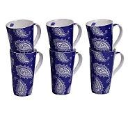Tabletops Gallery Set of 6 18-Oz Mugs - Sherman - K299056