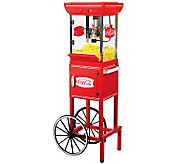 Nostalgia Electrics Coca-Cola Series Movie TimePopcorn Cart - K300956