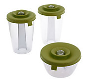 As Is Set of 3 Pop Some Snack and Storage Containers - K307256