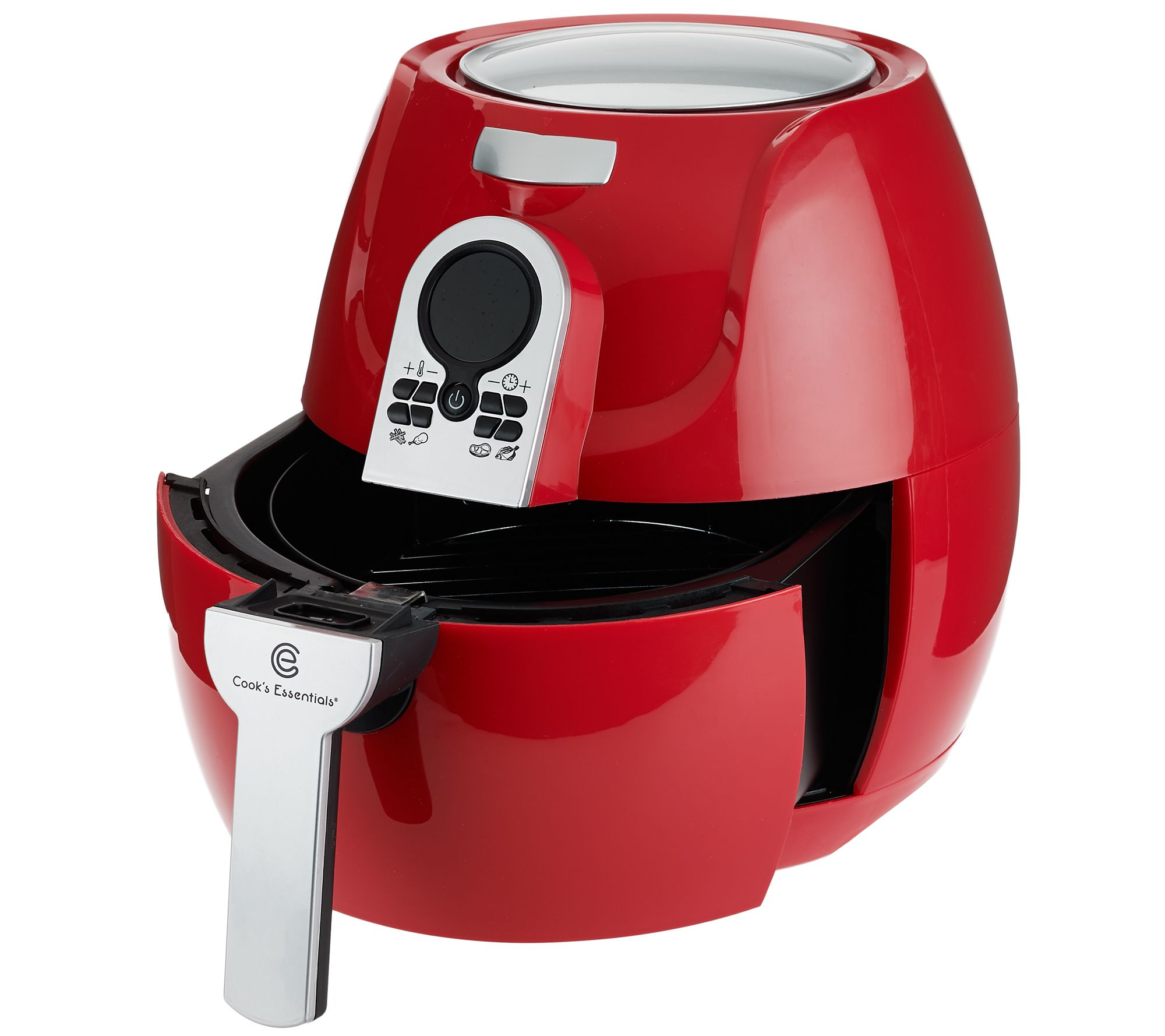 cooksessentials 1500w digital air fryer with presets grill rack