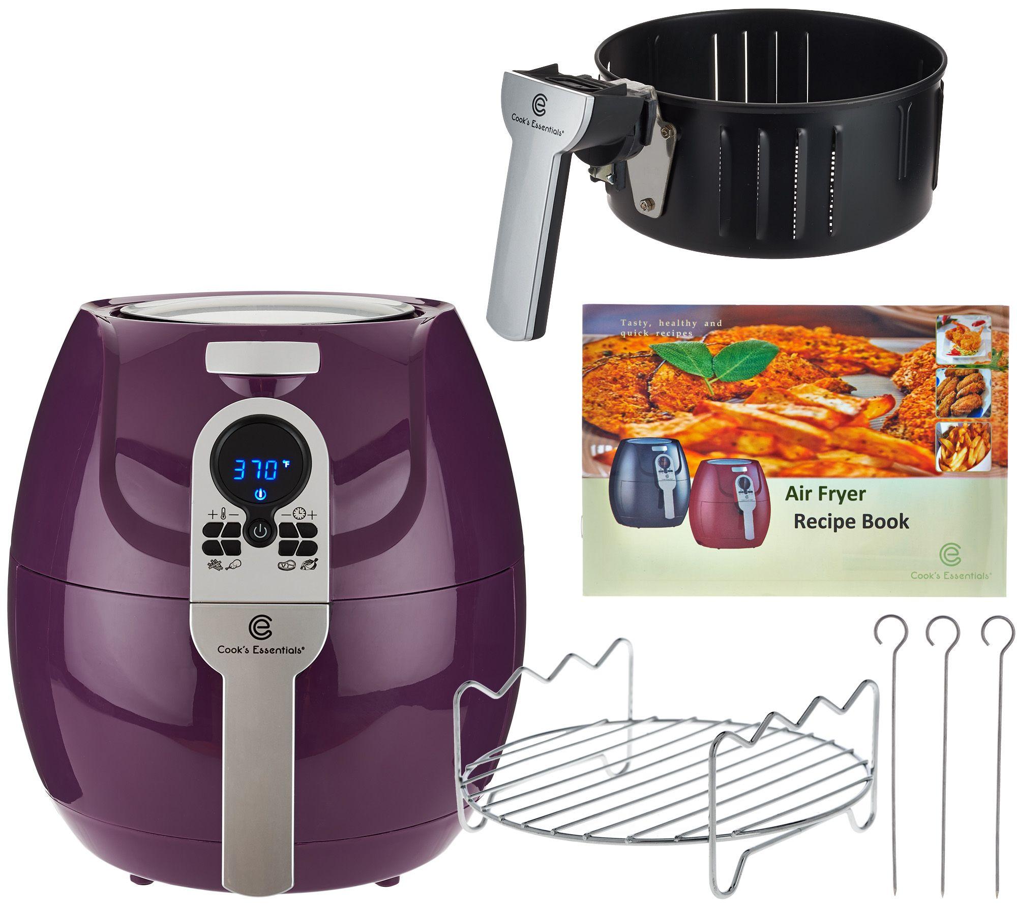 1500w digital air fryer with presets u0026 grill rack page 1 u2014 qvccom - Nuwave Air Fryer