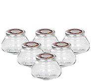 Leifheit 8-oz Glass Preserve Jars - Set of Six - K305457