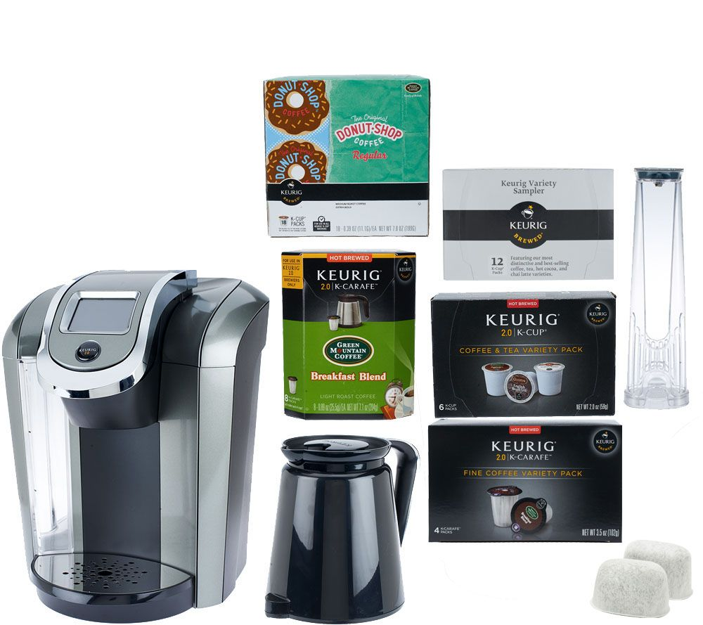 keurig 20 k550 coffee maker w 36 kcup u0026 12 kcarafe packs page 1 u2014 qvccom