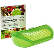 Lekue Family Size Steam Case with Tray and Cookbook - K42057