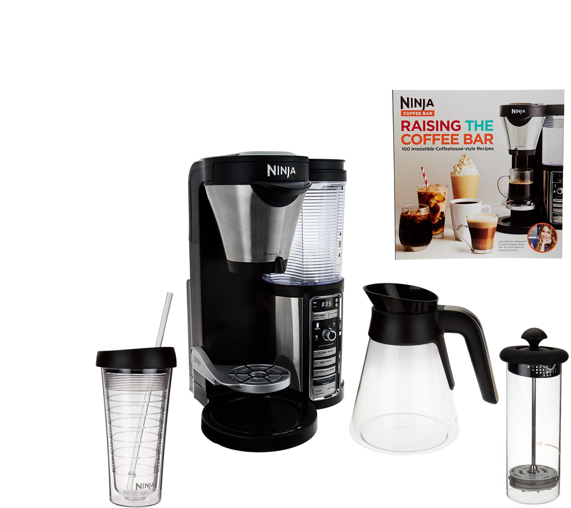 Ninja Coffee Bar Auto-iQ Coffee Maker w/ Glass Carafe & Recipe Book - Page 1 QVC.com