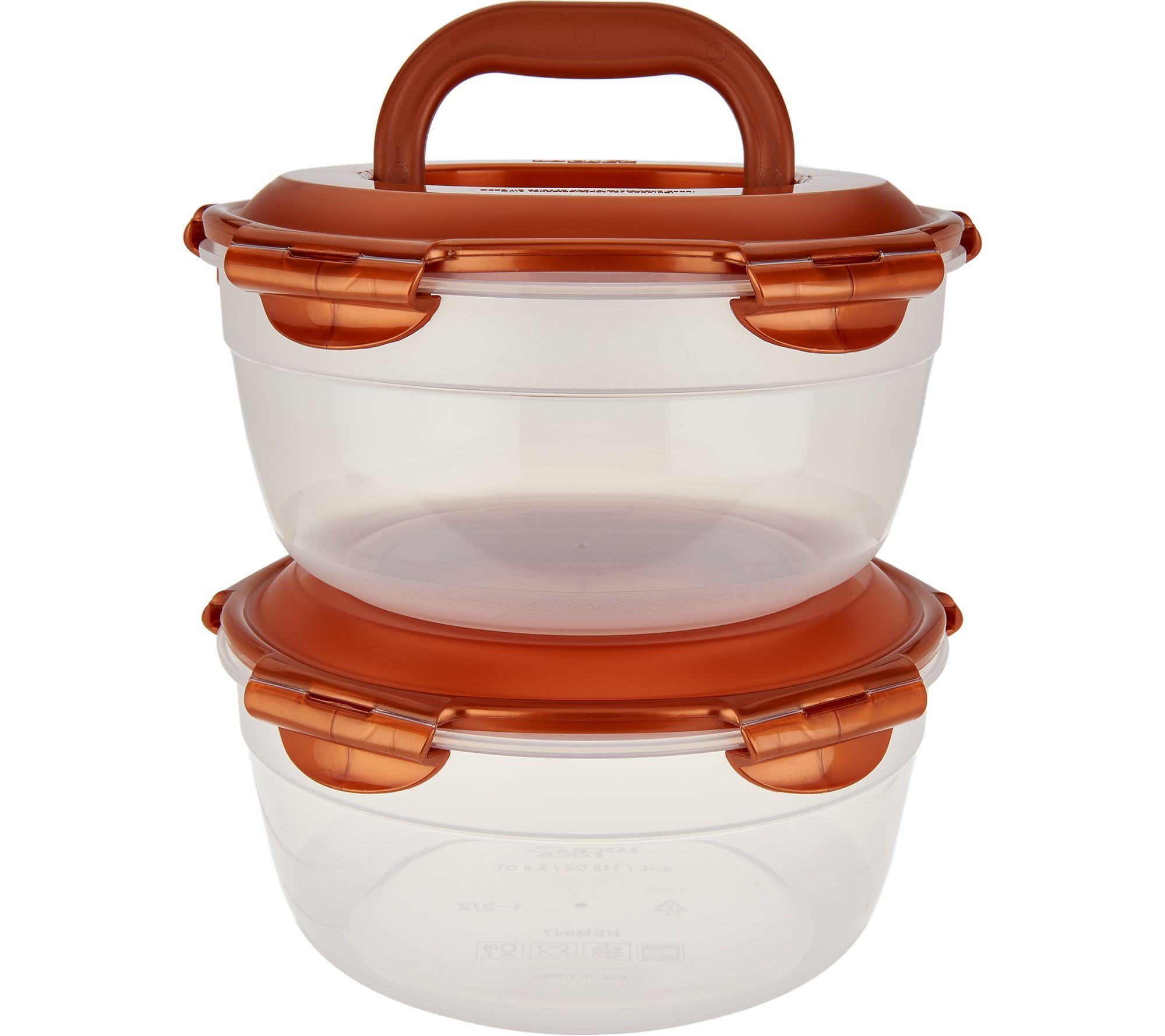 Lock & Lock 2 piece Bowl Storage Set with Handle - K46157