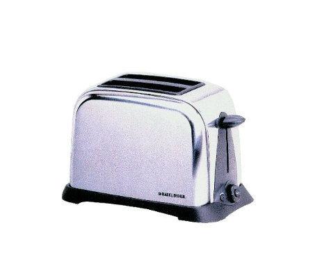 black decker t6000 2 slice chrome retro toaster. Black Bedroom Furniture Sets. Home Design Ideas
