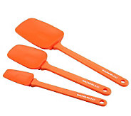 Rachael Ray 3pc Orange Silicone Spoonula Set - K126958