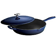 Tramontina Gourmet Enameled Cast-Iron 12 Covered Skillet - K300758
