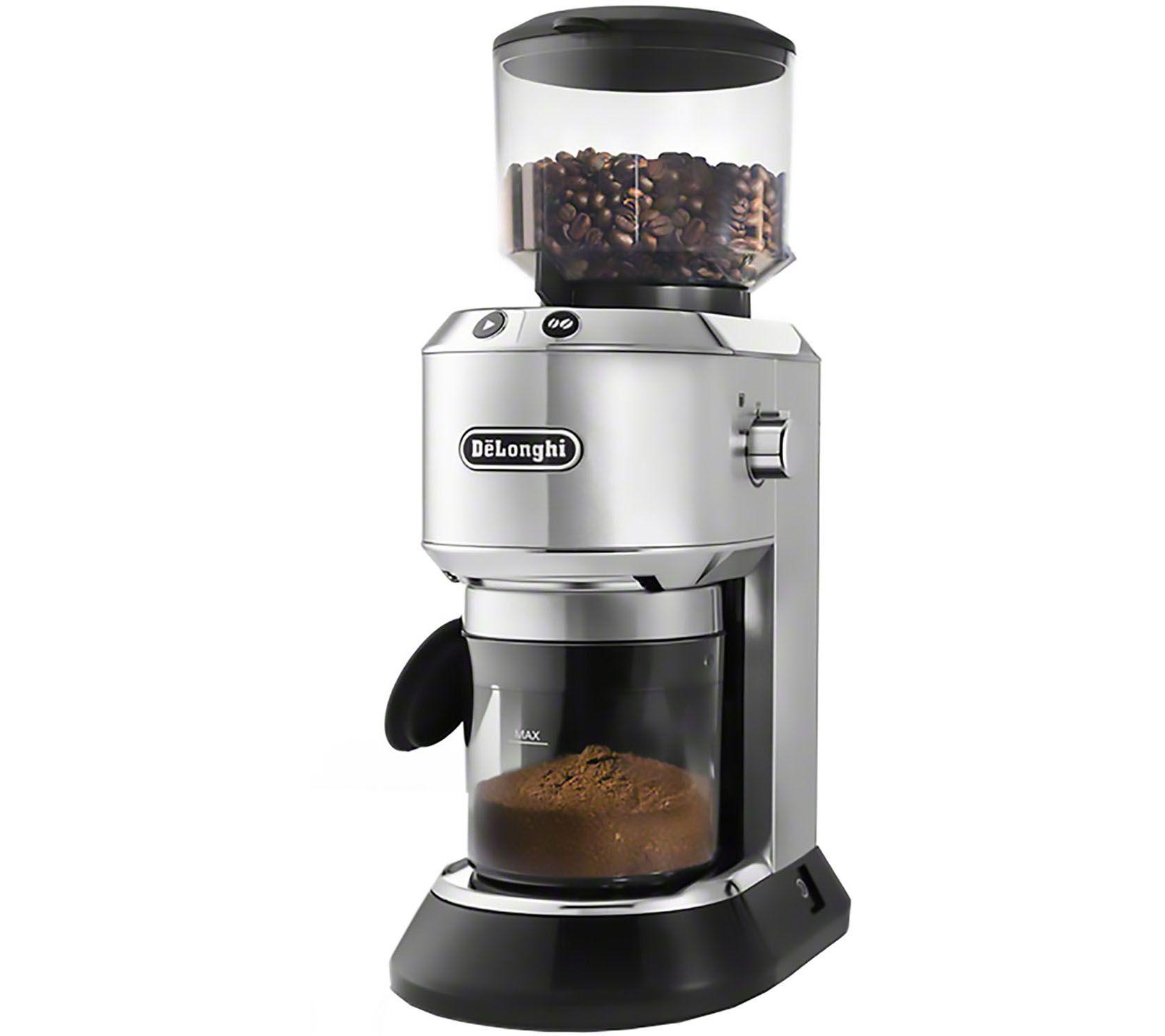 Delonghi Coffee Maker/Grinder Set : DeLonghi Dedica Conical Burr 14-Cup Grinder QVC.com