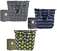 Rachael Ray Set of 3 Insulated Market Totes in Gift Boxes - K42658