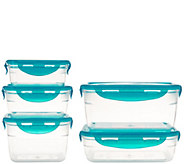 Lock & Lock 5 piece Nestable Tritan Storage Set - K43758