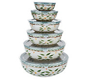 Temp-tations Old World Set of 6 Nesting Bowl Set - K46958
