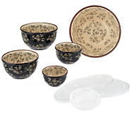As Is Temp-tations Floral Lace 5pc Concentric Bowl Set - K307159