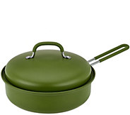 As Is 3qt Covered Round Nonstick BBQ Pan by Mark Charles Misilli - K307559