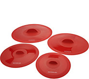 As Is Rachael Ray Set of 4 Silicone Suction Lids - K307759
