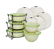Temp-tations Old World 13-pc Round Baker Set W/ Lid-Its - K40159