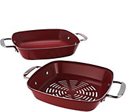 2-in-1 Solid & Perforated BBQ Saute Pans - K44159