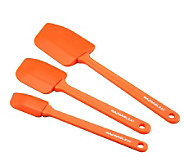 Rachael Ray 3pc Orange Pointed Silicone SpatulaSet - K126960