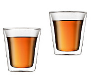 Bodum Canteen Set of 2 Double Wall Glass Cups,6oz - K297660