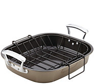 Anolon Bakeware 16 x 13-1/2 Roaster with Hanging U-Rack - K306260