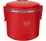 As Is MCM Electric Portable Cooker w/ Steamer Insert - K307460