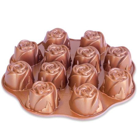 Nordic Ware Sweetheart Rose Pan Qvc Com