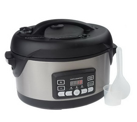 CooksEssentials 5qt Oval Stainless Steel Digital Pressure Cooker