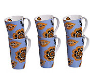 Tabletops Gallery Set of 6 18-Oz Mugs - Kendra - K299062
