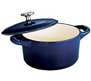 Tramontina Gourmet Enameled Cast-Iron 24-oz Covered Cocotte - K300762