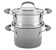Rachael Ray Hard Enamel Nonstick 3-qt Covered Steamer Set - K304462