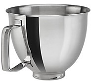 KitchenAid 3.5-Qt Polished Stainless Steel Bowlwith Handle - K306462