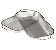 As Is Cooks Essentials Set of 2 Stainless Steel BBQ Roasting Pans - K307562