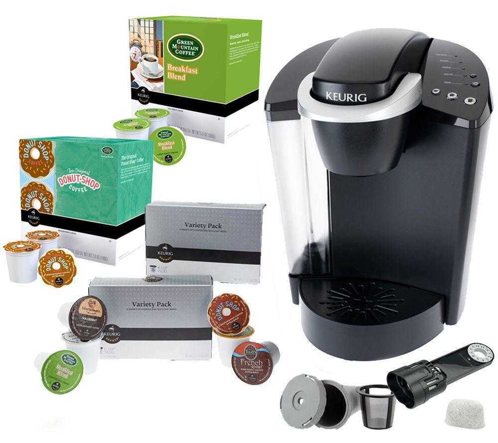 Keurig K45 Coffeemaker w/48 K-Cup Packs, My K-Cup & Water Filter QVC.com