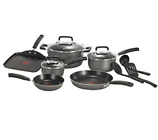 T Fal Signature Total Nonstick 12 Piece Cookware Set Black