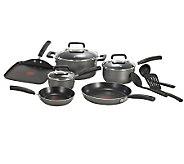 T-Fal Signature Total Nonstick 12-Piece Cookware Set - Black - K299663