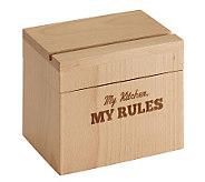 Cake Boss Beechwood Recipe Box with My Kitchen, My Rules - K302463