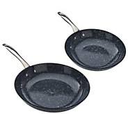 As Is Cooks Essentials 10& 12 Lightweight CastIron Marble Frying Pans - K307563