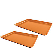 Red Copper Set of 2 Cookie Sheets - K375663