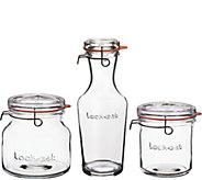 Luigi Bormioli Lock-Eat 3-Piece Glass Storage Set - K376063