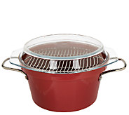 CooksEssentials 5qt Lightweight Cast Iron Dutch Oven w/GlassLid and Wire Rack - K40763