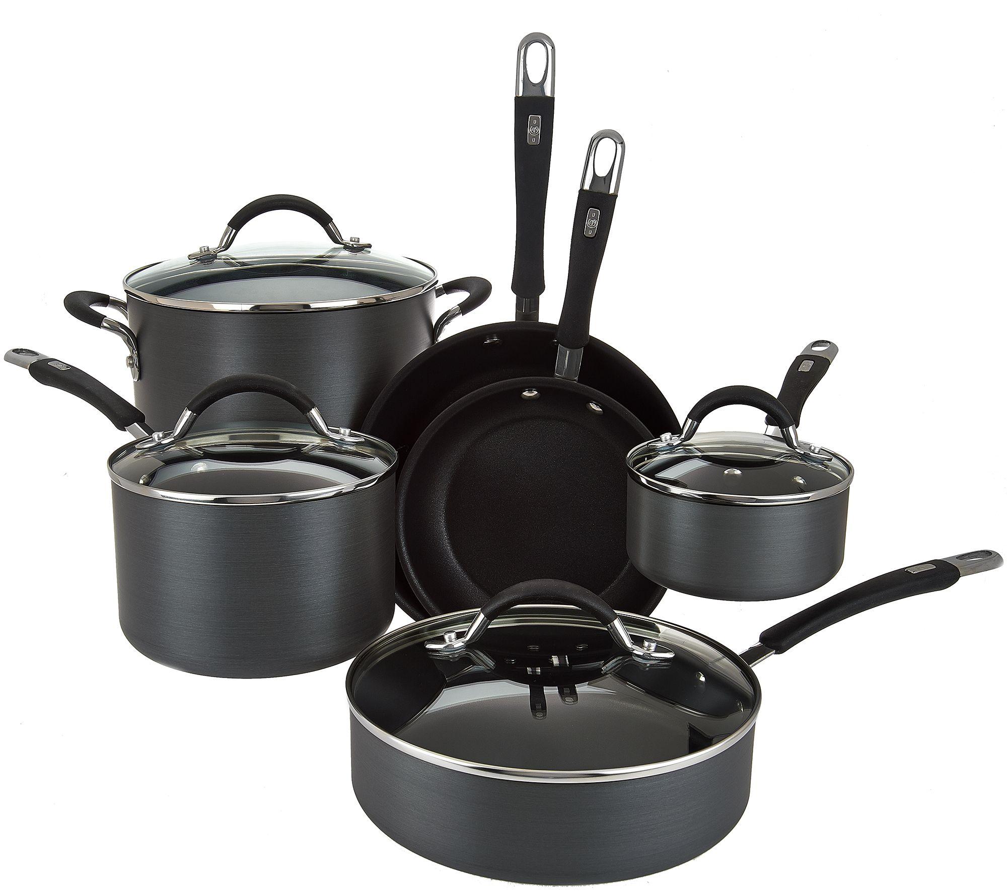 Kitchen Set Graver: Cook's Essentials 10-piece Hard Anodized Cookware Set