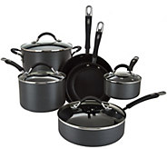CooksEssentials 10-piece Hard Anodized Dishwasher Safe Cookware Set - K43363