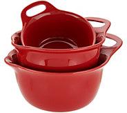 Rachael Ray Set of 3 Stoneware Mixing Bowls - K46863
