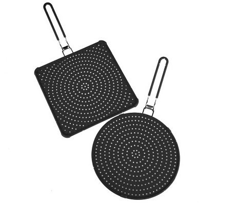 Prepology Set of 2 Foldable Silicone Splatter Guards