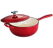 Tramontina Gourmet Enameled Cast-Iron 3-qt Covered Saucier - K300764