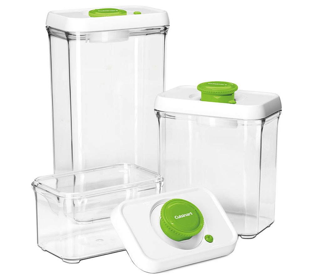 Cuisinart 6 Pc Vacuum Seal Food Storage Container Set Page 1 Qvc
